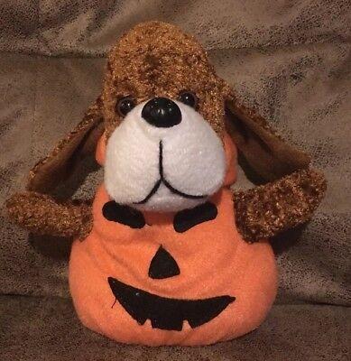 "Stuffed Animal Halloween Costumes (Funny Farm Friends Dog Pumpkin Costume Plush Halloween 7"" Puppy Stuffed)"