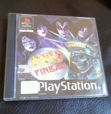KISS PINBALL BLACK LABEL  PLAYSTATION PSONE PS1 PS2 PAL very good condition