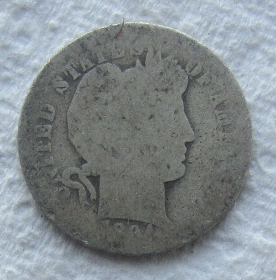 1894-O Barber Dime Rare Key Date Weak Date Good Filler - $33.95