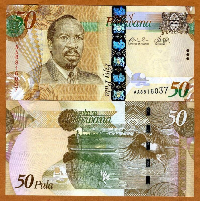 Botswana, 50 Pula, 2009,  AA-Prefix, P-32, OVD, UNC