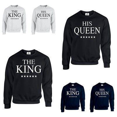 Der Erwachsene König Krone (Der König his Queen Krone Pulli Valentins Paar PASSENDES GESCHENK (Sweatshirt))