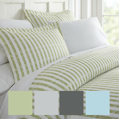 Hotel Collection Premium 3 Piece Puffed Rugged Stripes Duvet Cover Set by iEnjoy