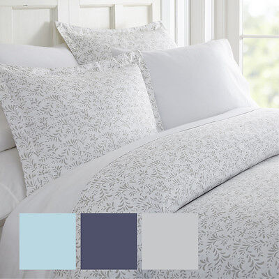 Burst of Vines 3 Piece Print Duvet Cover Set - Hotel Collection by iEnjoy home