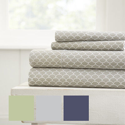 Hotel Collection Premium Luxury Scallops Pattern 4 Piece Bed Sheet (Luxury Hotel Collection)