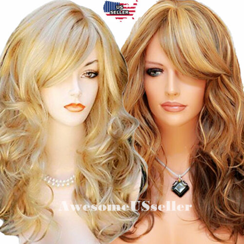 Women Fashion Cosplay Costume Curly Party Wavy Hair Anime Wigs Hair Long Wig NEW
