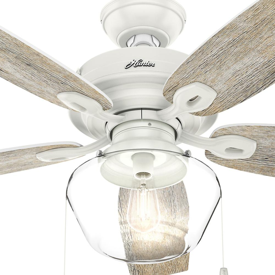 """Outdoor/Indoor Damp 52"""" Wooden LED Ceiling Fan Unique Farmho"""