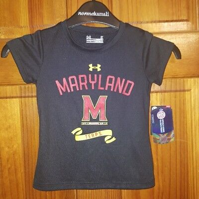 Under Armour Child Youth 4T  University of MD Terrapin Terps S.Sleeve Shirt  NWT