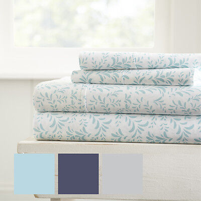 Hotel Collection Ultra Soft 4 Piece Burst of Vines Bed Sheet Set by iEnjoy home