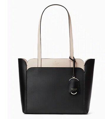 🌸KATE SPADE pocket tote Magnolia Street Leather satchel laptop bag black
