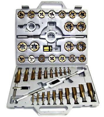 NEW 45pc Tap and Die Set Metric Tungsten Steel Titanium tools
