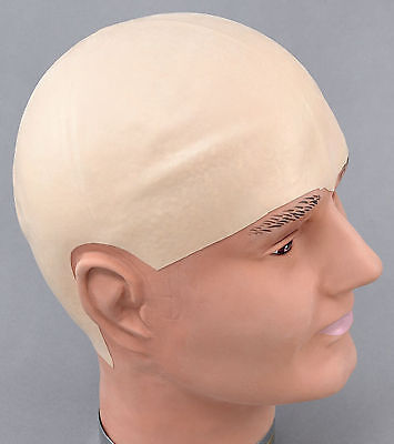 BALD HEAD WIG Latex Cap Dr Evil Clown Kojak Fancy - Dr Evil Costume