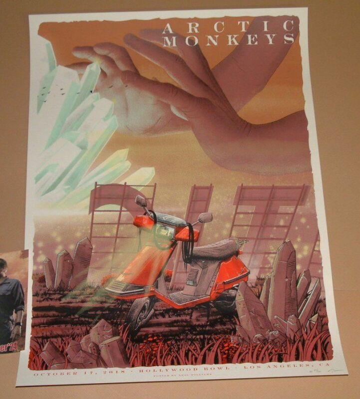 Arctic Monkeys Neal Williams Los Angeles Poster Signed Numbered Night Two 2018