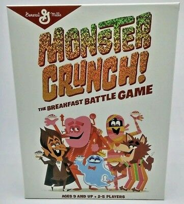Monster Crunch : The Breakfast Battle Board Game- General Mills NEW Ships Quick ()
