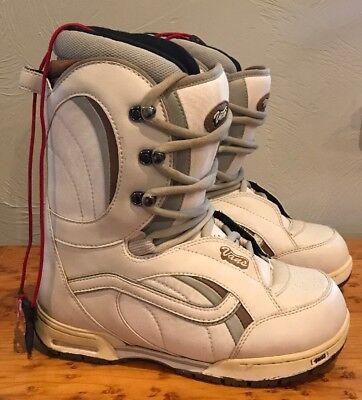5a5cd90212 VANS MANTRA Boa Lace Women s Snowboard Boots Beige Size 9 VGUC
