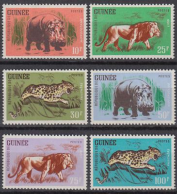 GUINEA GUIN E 1962 MI 128 33 TIERE ANIMALS LEOPARD L WE LION ST3265