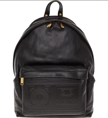 VERSUS VERSACE Boombox Leather Backpack - Black