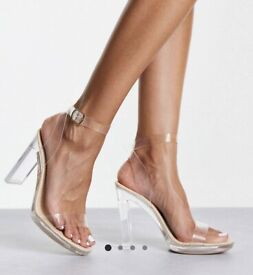 ASOS Truffle Collection Perspex Heeled Sandals