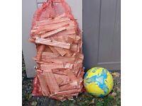 Big bags of firewood.