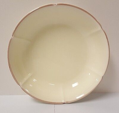 "Vintage Japanese Glazed Porcelain Sweet Petal Cream Yellow Pink 9"" Serving Bowl"