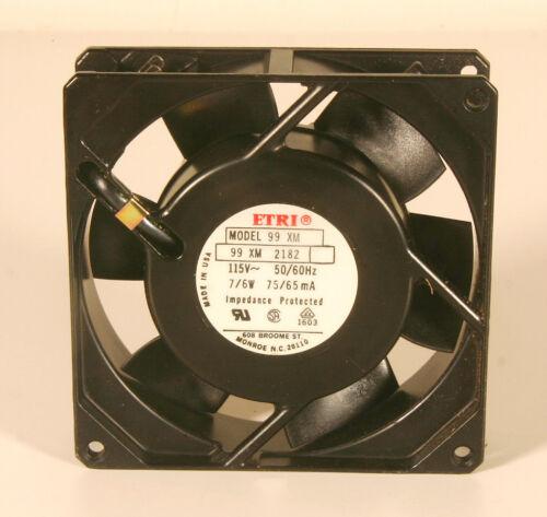"Fan - ETRI Model 99 XM  115V, 50/60Hz - 3 5/8"" Sq x 1"""