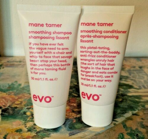 Evo Mane Tamer Shampoo & Conditioner Set 1.1oz each travel size ~Combined Ship~