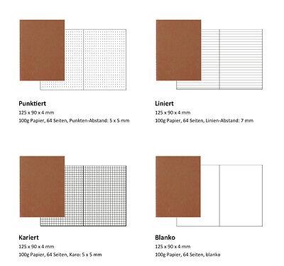 Refill | Einlage für Traveler's Notebook, Reisepassformat, 12,5 x 9 cm