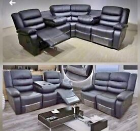 🤗XMAX SALE OFFER🤗 CHICAGO RECLINER 3+2 Seater & CORNER SOFA + FOOT REST🤗ORDER NOW