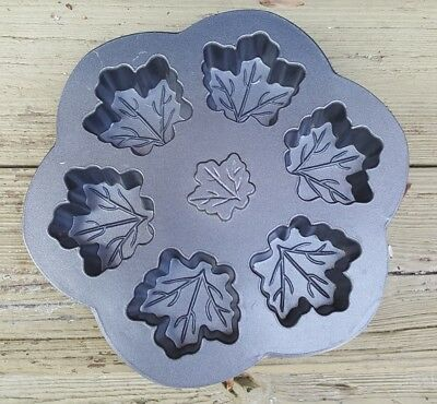 NORDIC WARE MAPLE LEAF 6 CUPCAKE CANDY CAKE PAN BAKING Nordic Ware Candy