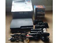 Sony PlayStation 3 Slim 320 GB bundle + 3 x DualShock 3, 2 x Move, 1 x Eye Cam, 1 x Nav & 12 games