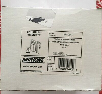 Mirtone Hornstrobe Temporal Fire Alarm In Red Int-3at