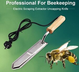 New Electric Honey Bee Supply Scraping Extractor Uncapping Hot Knife Beekeeping