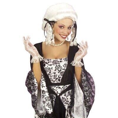 SPITZENHANDSCHUHE WEIß # Spitzen Netz Handschuhe Barock Rokoko Gothic Braut 4619 (Weiße Spitzen Handschuhe)