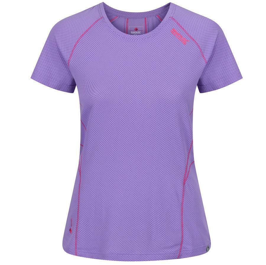 Regatta Virda II Damen Shirt Wandershirt T-Shirt Funktionsshirt Sport Laufshirt