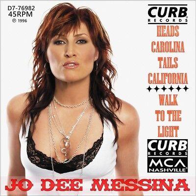 "7"" JO DEE MESSINA Heads Carolina Tails California CURB Country USA 1996 like NEW"