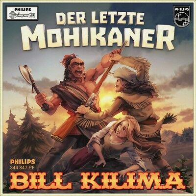 "7"" BILL KILIMA Der letzte Mohikaner CV CREW CUTS Angels In The Sky PHILIPS 1955"