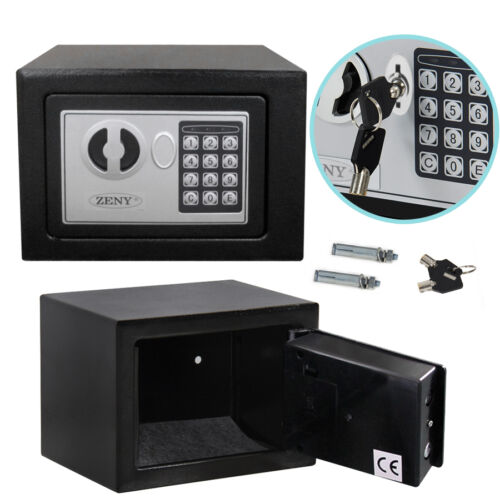 electronic safety box security home office digital lock jewelry black safe money ebay. Black Bedroom Furniture Sets. Home Design Ideas
