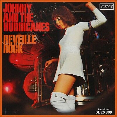"7"" JOHNNY AND THE HURRICANES Reveille Rock / Time Bomb LONDON Rock 'n' Roll 1959"