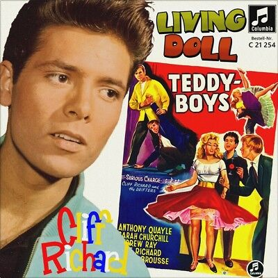 "7"" CLIFF RICHARD & THE DRIFTERS Living Doll OST Serious Charge COLUMBIA D 1959"