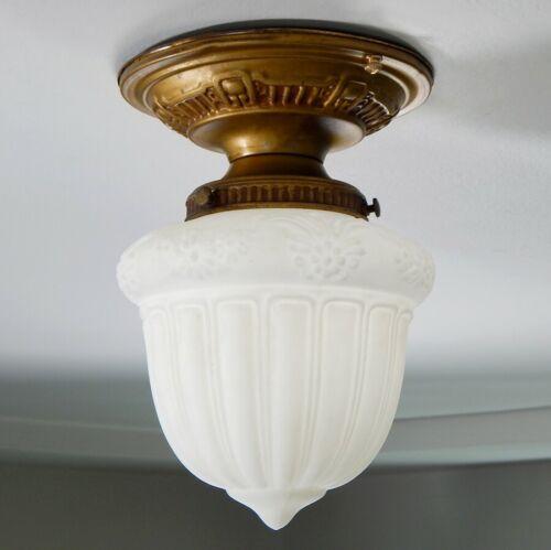 Antique Semi-Flush Brass Ceiling Light Fixtur