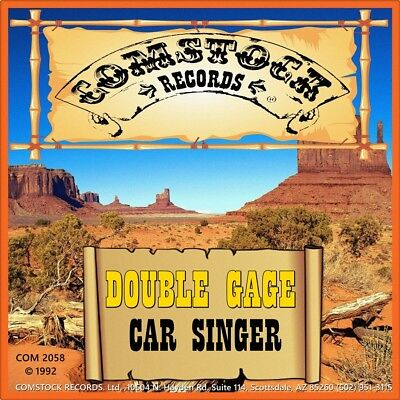 """7"""" DOUBLE GAGE Car Singer GRAY GREGSON 45rpm COMSTOCK Country USA 1992 like NEW!"""