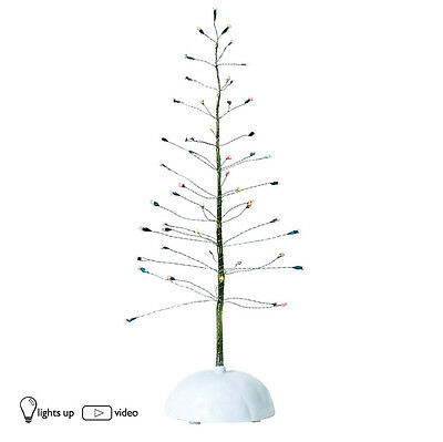Dept 56 LIT TWINKLE BRITE TREE SMALL 52983 D56 NEW Village Light Up Accessory