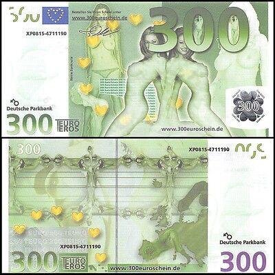 Europe 300 Euro Sex Banknote, UNC