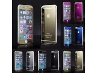 Front & Back Mirror Tempered Glass Screen Protector cover For iphone 5 6 6S Plus WHOLESALE JOBLOT