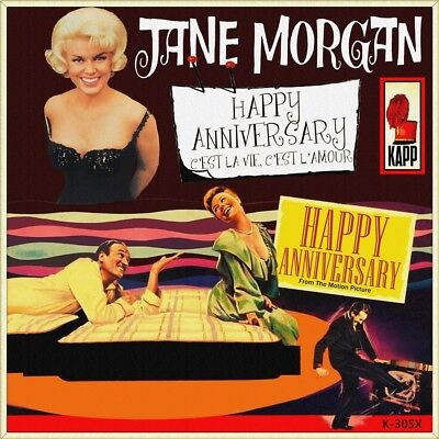 "7"" JANE MORGAN Happy Anniversary DAVID NIVEN MITZI GAYNOR OST US-Press KAPP 1959"