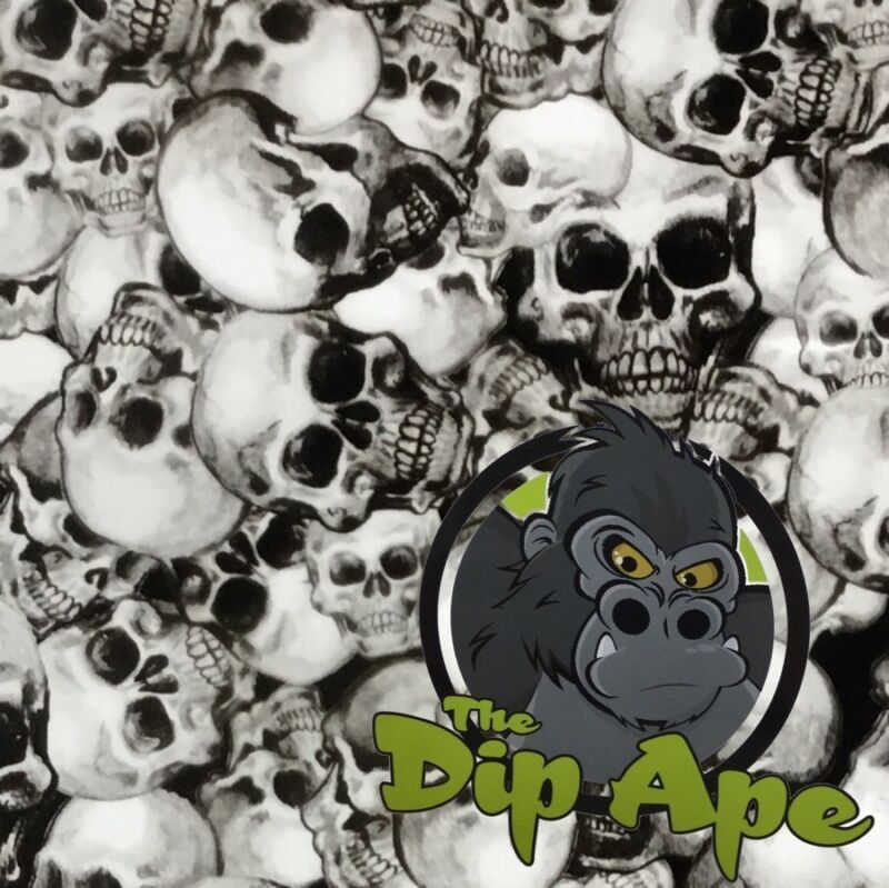 LARGE TRUE SKULLS HYDROGRAPHIC WATER TRANSFER HYDRO FILM DIP APE