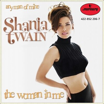 "7"" SHANIA TWAIN The Woman In Me / Any Man Of Mine MERCURY Country US-Press 1995"
