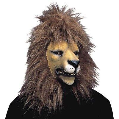 LATEX LÖWEN MASKE Karneval Löwenmaske Tiermaske Tier Zoo - Latex Tier Kostüme