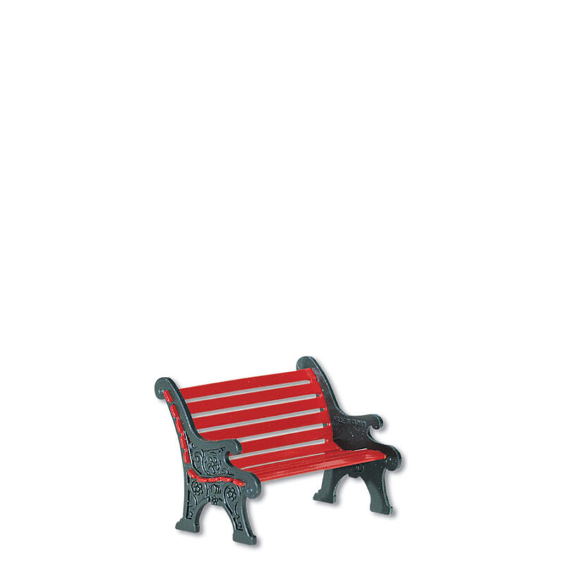 Dept 56 Lot of 2 VILLAGE RED WROUGHT IRON PARK BENCH 56445  D56 NEW Christmas