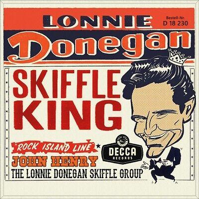 "7"" LONNIE DONEGAN SKIFFLE GROUP Rock Island Line/John Henry DECCA 1956 like NEW!"