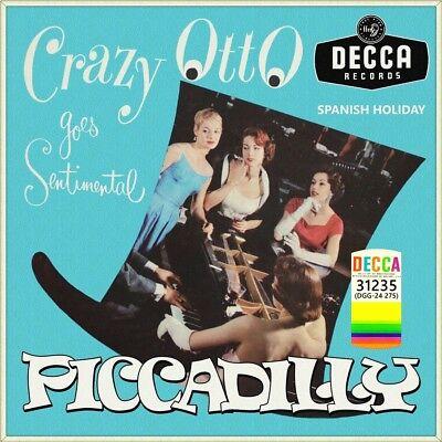 """7"""" DER SCHRÄGE CRAZY OTTO Piccadilly FRITZ SCHULZ-REICHEL DECCA US-Press 1960"""